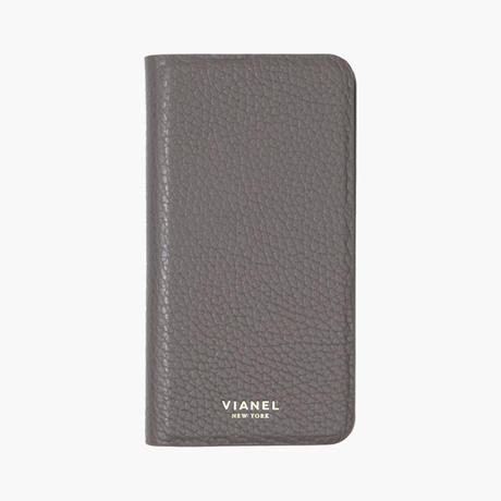 VIANEL NEW YORK - Folding iPhone 8/7 Case - Calfskin Grey