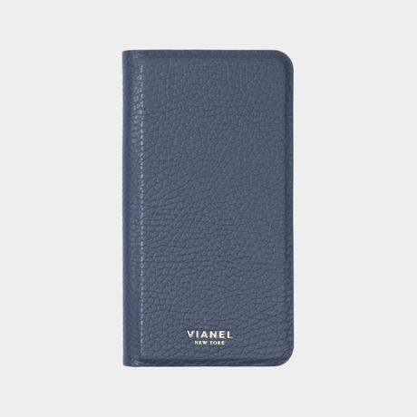 VIANEL NEW YORK - Folding iPhone 8/7 Case - Calfskin Navy