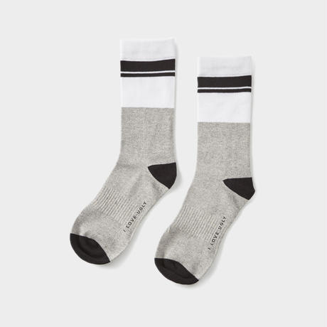 I LOVE UGLY / DONNY SOCK - BLACK STRIPE