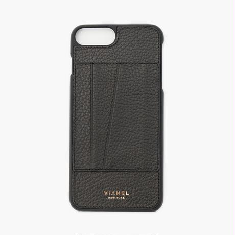 VIANEL NEW YORK - Cardholder iPhone 8Plus/7Plus Case - Calfskin Black