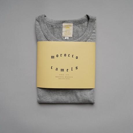 camels hotel / crew neck SS-Tshirts / gray melange
