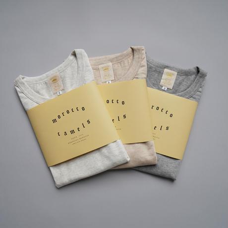 camels hotel / crew neck SS-Tshirts / beige melange