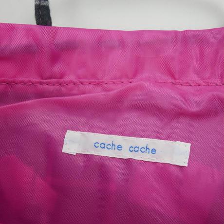 cache cache ボンボン付きチェック柄 バックインバック B121~B125