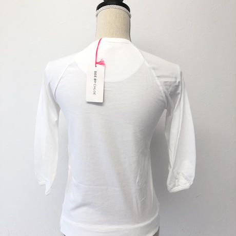 See By Chloeシー バイ クロエ38ホワイトTシャツ