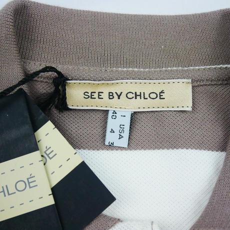 SEE BY CHLOE SbCロゴ入りボーダー ポロシャツ LT508