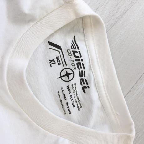 ディーゼル メンズ  Tシャツ  ホワイト ロゴ XL 010
