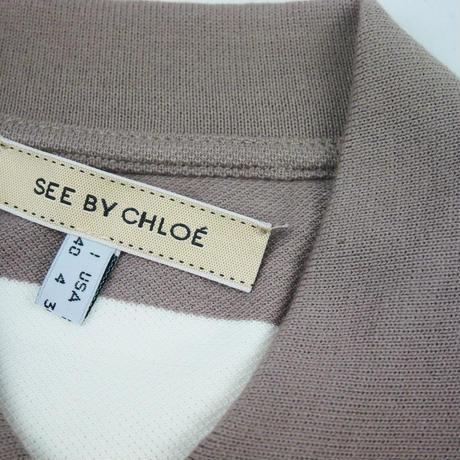SEE BY CHLOE SbCロゴ入りボーダー ポロシャツ LT511