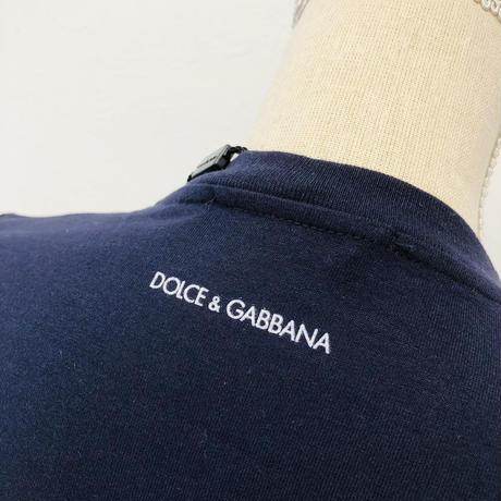 ドルチェ&ガッバーナ DOLCE & GABBANA 紺ネイビーM Tシャツ