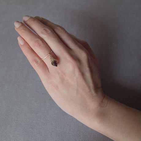 Mosque ring (S) | smoky quartz