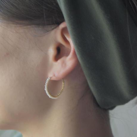 Skin jewelry - Hoop earrings (S) | water pearl