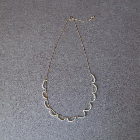 skin jewelry - ripples necklace / water pearl