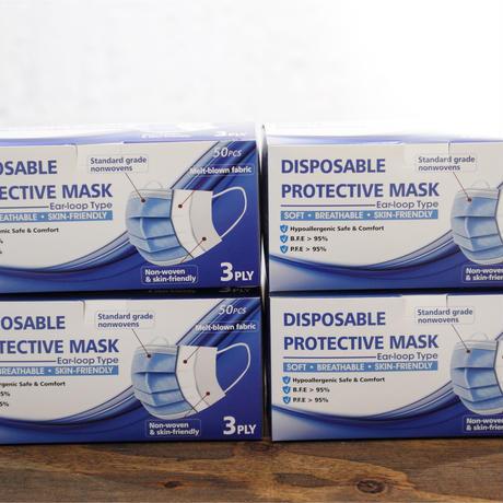 三層構造マスク 200枚 4箱【まとめ割320円OFF】