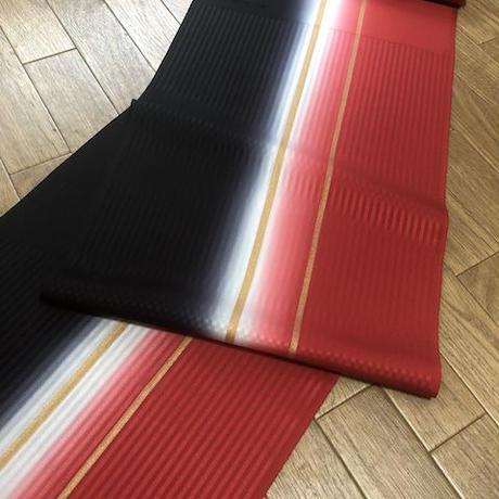 アートスペースセラビコラボ帯揚 Rail trip 赤×黒