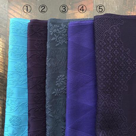 発色の美しい唐織正絹帯揚