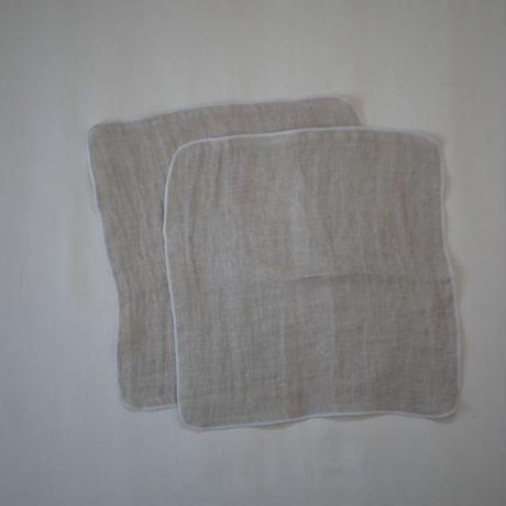 atelier Une place / LINEN W GAUZE CHIEF -WHITE M-