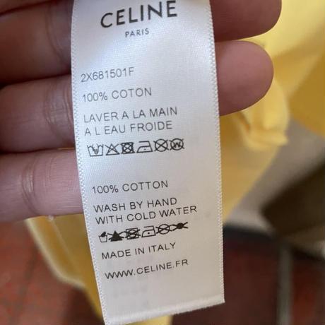 Lサイズ!新品★21SS★CELINE Hedi Simane セリーヌ ブランドロゴ CELINEプリント ルーズTシャツ イエロー