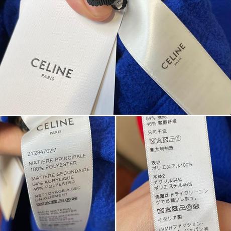 ★新品★21SS★CELINE Hedi Simane THE DANCING KID セリーヌ カラーブロック レオパード ルーズスウェットシャツ フリースジャケット