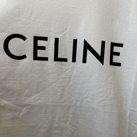 XLサイズ!新品★21SS★CELINE Hedi Simane セリーヌ ブランドロゴ CELINEプリント ルーズTシャツ ホワイト メンズ