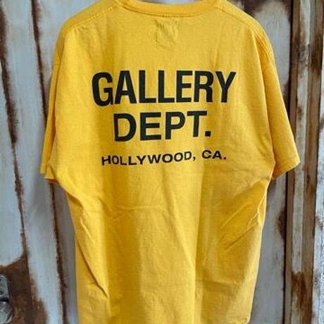 新品GALLERY DEPT. LOGO PRINTED VINTAGE T-SHIRT ヴィンテージ加工 プリント 半袖Tシャツ  yellow