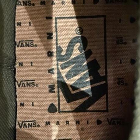 国内未発売★新品 MARNI マルニ  × VANS タッセル VINTAGE加工 レザー スニーカー 取り外し可 2WAY