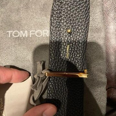 新品★ TOM FORD ベルト TB178T LCL050  Tバックル  リバーシブルベルト gold brown/black