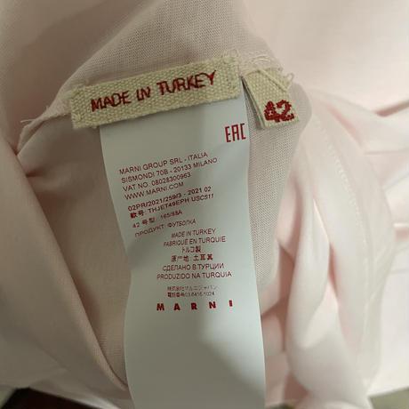 新品 MARNI マルニ ブランドロゴ レタリングプリント オーバーサイズ 半袖 Tシャツ ピンク
