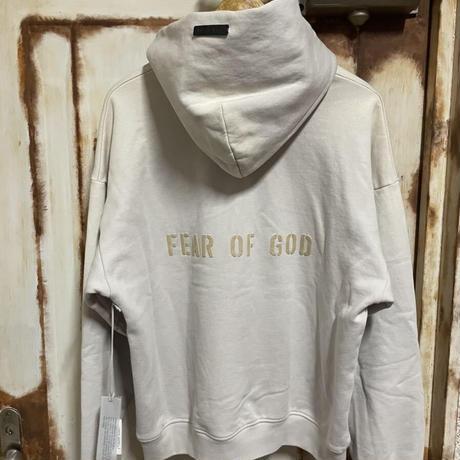 貴重S★新品タグ付 Fear of God 7th collection フィアオブゴッド FG バックロゴ ヴィンテージ加工 スウェットパーカー S