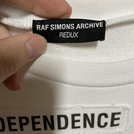 貴重XL 新品★21SS★RAF SIMONS ARCHIVE REDUX WITH WORDING PATCHES ラフシモンズ アーカイブ テロリスト期 パッチ スウェット