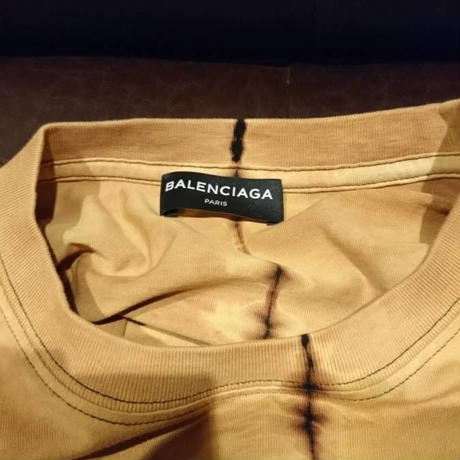 新品タグ付き★18SS★BALENCIAGA バレンシアガ THINK BIG! オーバーサイズ タイダイ Tシャツ Sサイズ ブラウン