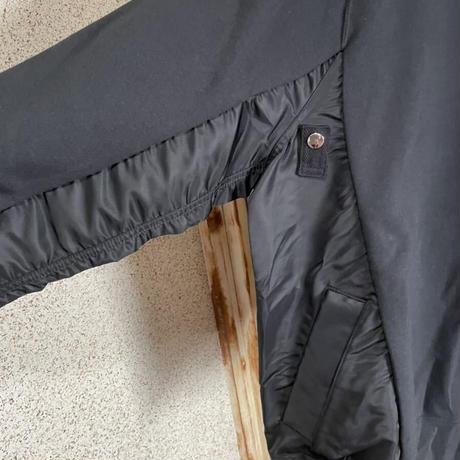 新品タグ付★sacai サカイ ×NIKE ナイキ Hoodie MA-1 ボンバージャケット切り替えし スウェットパーカー 黒 L