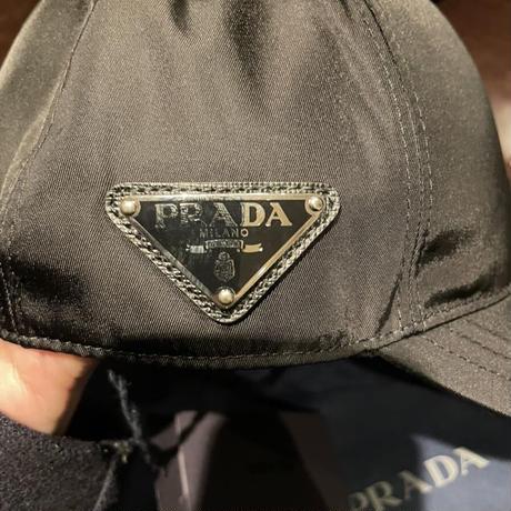 新品21SS★PRADA Re Nylon プラダ トライアングルロゴ 三角プレート ベースボールキャップ M