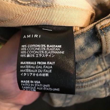 新品タグ付き★AMIRI アミリ トラック インディゴ デニム パンツ ジーンズ トラックデニム スキニー ブルー サイズ29