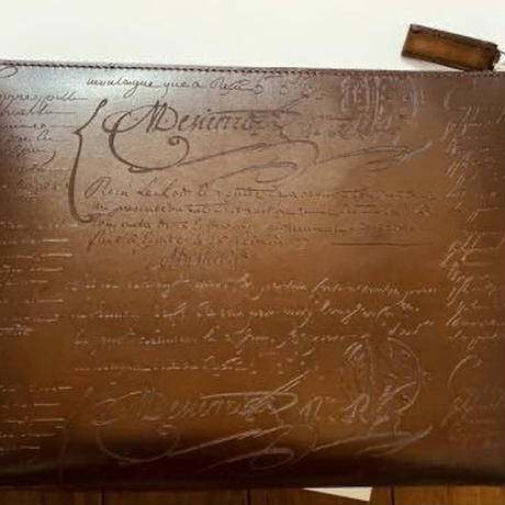 定価15.4万円 Berluti scritto leather ベルルッティ ニノGM レザー ポーチクラッチバッグ ドキュメントホルダー