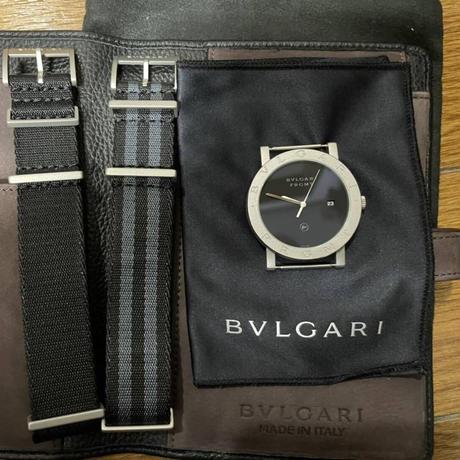 250本限定★BVLGARI × FRAGMENT ブルガリ フラグメント ブルガリブルガリ 腕時計 替えベルト2本 NATOベルト 藤原ヒロシ