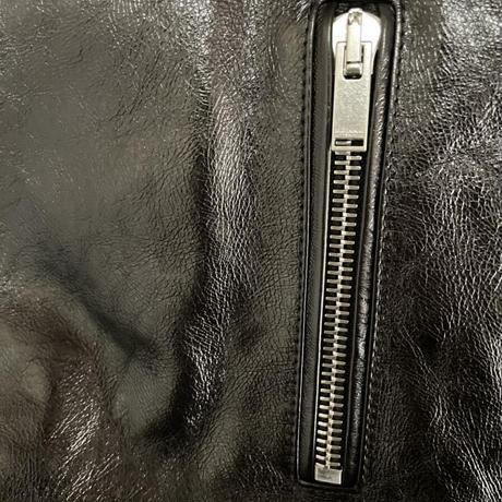 早い者勝ち!新品タグ付き★SAINT LAURENT サンローラン L01 レザーバイカージャケット レザージャケット 黒 48 カーフ 牛革