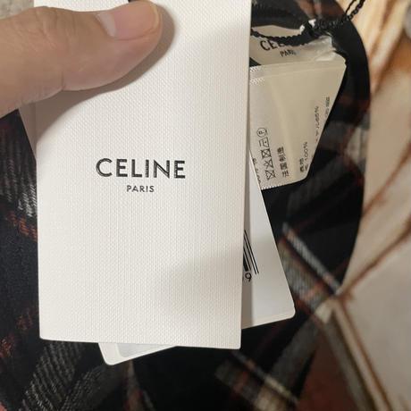 新品タグ付★CELINE Hedi Simane セリーヌ ブランドロゴ  刺繍タイプ チェックバケットハット RED