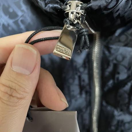 新品タグ付き★DIOR oblique ディオール オブリーク ブランドロゴ モノグラム 柄 ダウンジャケット 46