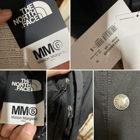 新品タグ付★20FW★Maison Margiela MM6 × THE NORTH FACE Circle マウンテンパーカー ジャケット ブラック S オーバーサイズ