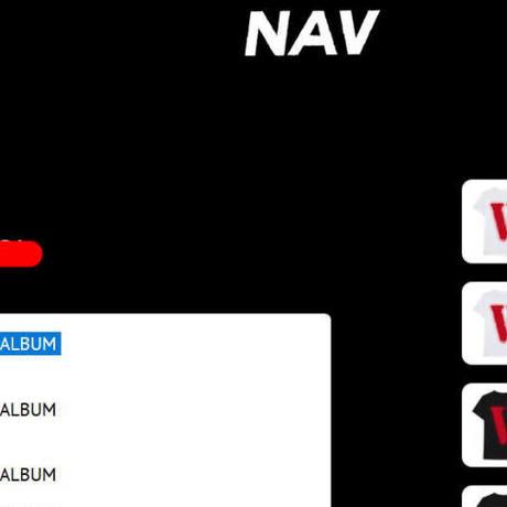 Lサイズ★限定★VLONE × NAV music Bad habits DRIP TEE コラボ Tシャツ 黒