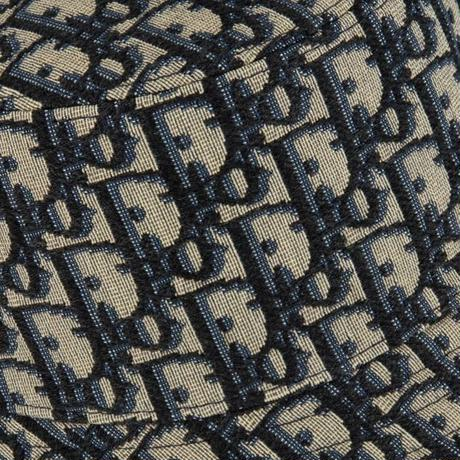 新品タグ付★DIOR oblique ディオール オブリーク 総柄 ブランドロゴ ジャガード モノグラム ボブハット バケットハット M