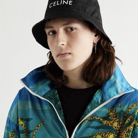 新品タグ付★21SS★CELINE Hedi Simane セリーヌ ブランドロゴ  刺繍タイプ バケットハット BLACK