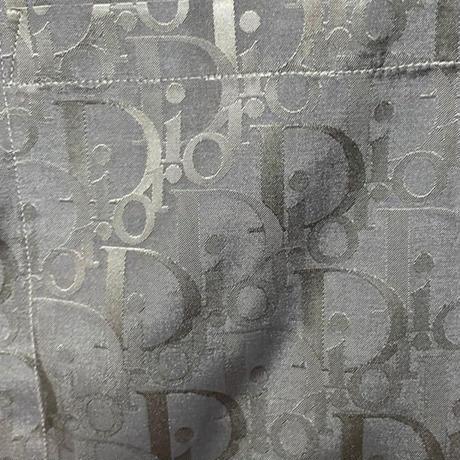 新品★DIOR ディオール オブリーク シルク&コットン 半袖シャツ アロハ ハワイアンシャツ ブランドロゴ モノグラム 総柄 39サイズ グレー