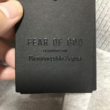 Mサイズ新品タグ付き Zegna × fear of god ゼニア フィアオブゴッド コラボ コットン スウェットパンツ