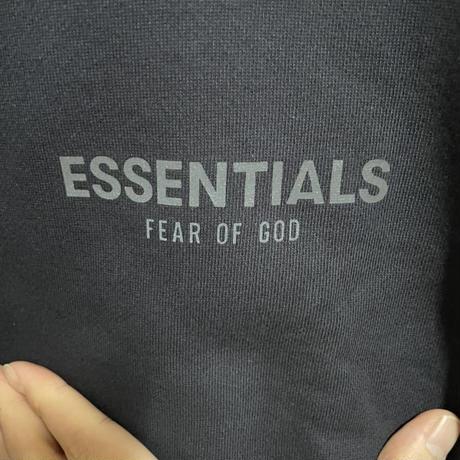 Mサイズ 限定!新品タグ付 ESSENTIALS fear of god エッセンシャルズ フィアオブゴッド ロゴ モックネック スウェット オーバーサイズ Navy