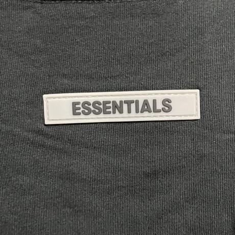 Mサイズ新品タグ付 ESSENTIALS fear of god エッセンシャルズ フィアオブゴッド ロゴ Long Sleeve Tee Black Tシャツ ロンT 長袖Tシャツ