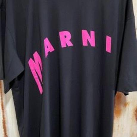 新品 MARNI マルニ ブランドロゴ レタリングプリント オーバーサイズ 半袖 Tシャツ ピンク  のコピー