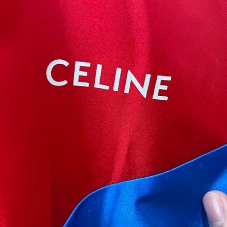 新品★21SS★CELINE by Hedi Simane THE DANCING KID セリーヌ CELINEプリント フード付きブルゾン ジップパーカー 軽量ナイロン 50サイズ