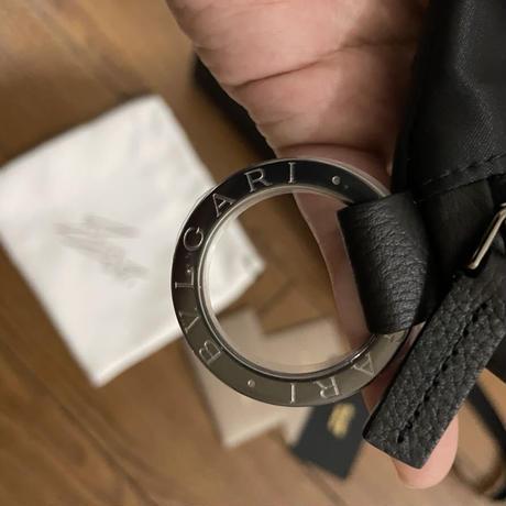 新品タグ付!FRAGMENT X BVLGARI ブルガリフラグメント ネックレス 小銭入れ コンパクト財布 ナノ ブラック