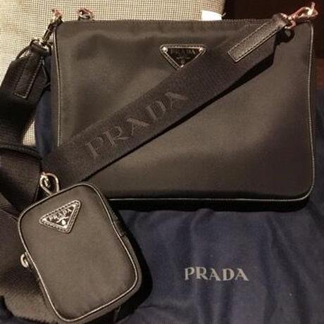新品★PRADA プラダ ナイロン ポーチ付き クロスボディバッグ