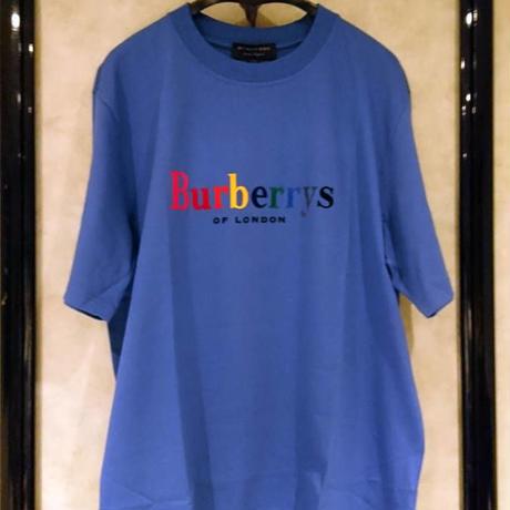 新品タグ付き★BURBERRY バーバリー × opening ceremony コラボレインボーロゴ フロッキープリント Tシャツ Lサイズ